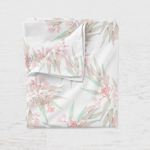 Botanical Illustrated Floral//Flower Print Stretch Jersey  Dressmaking Fabric 1.5