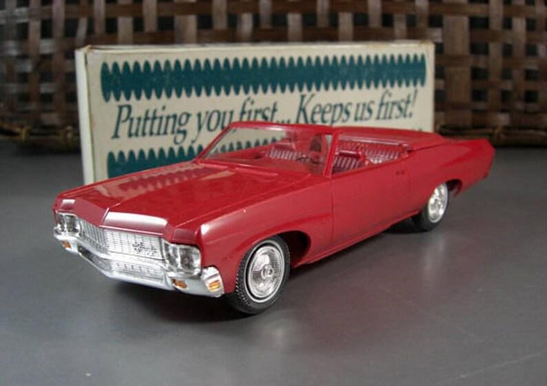 1970 Chevrolet Impala Convertible Dealer Promo Model Car American Automotive Advertising Swag