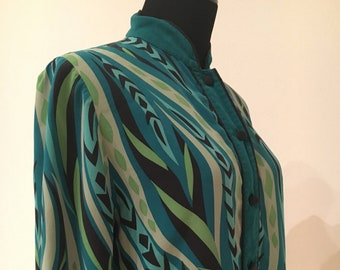 0bdbe43cb16bf VTG Bob Mackie wearable art blouse