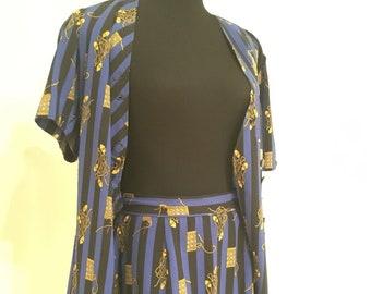 f515e7c3e941 Versace esque 2 piece mini skirt   top