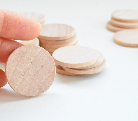 50 Unfinished Wooden Circles 125 Small Wooden Circles Wooden Circles Supplies Natural Wood Circles Wood Circles Beads