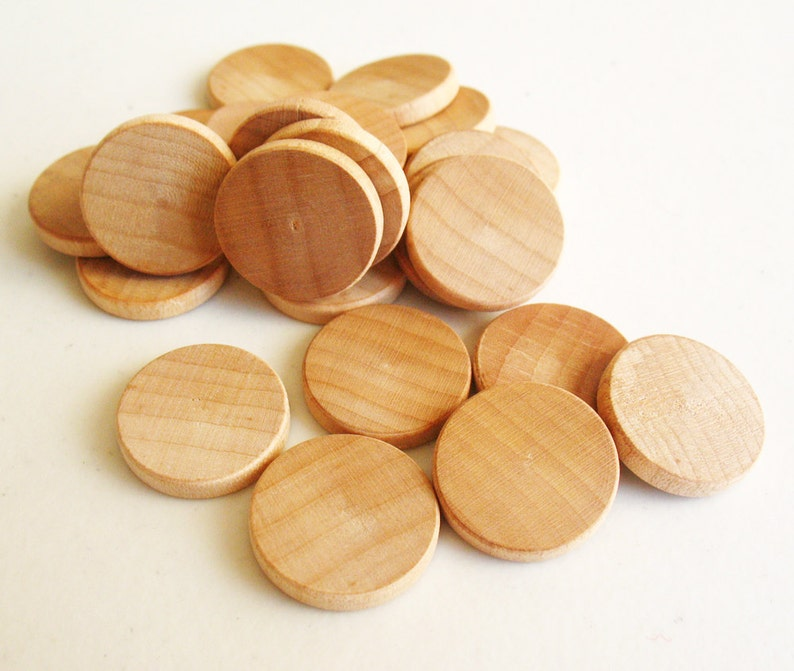 25 Unfinished Wooden Circles 34 Small Wooden Circles Wooden Circles Supplies Natural Wood Circles Wood Circles Beads