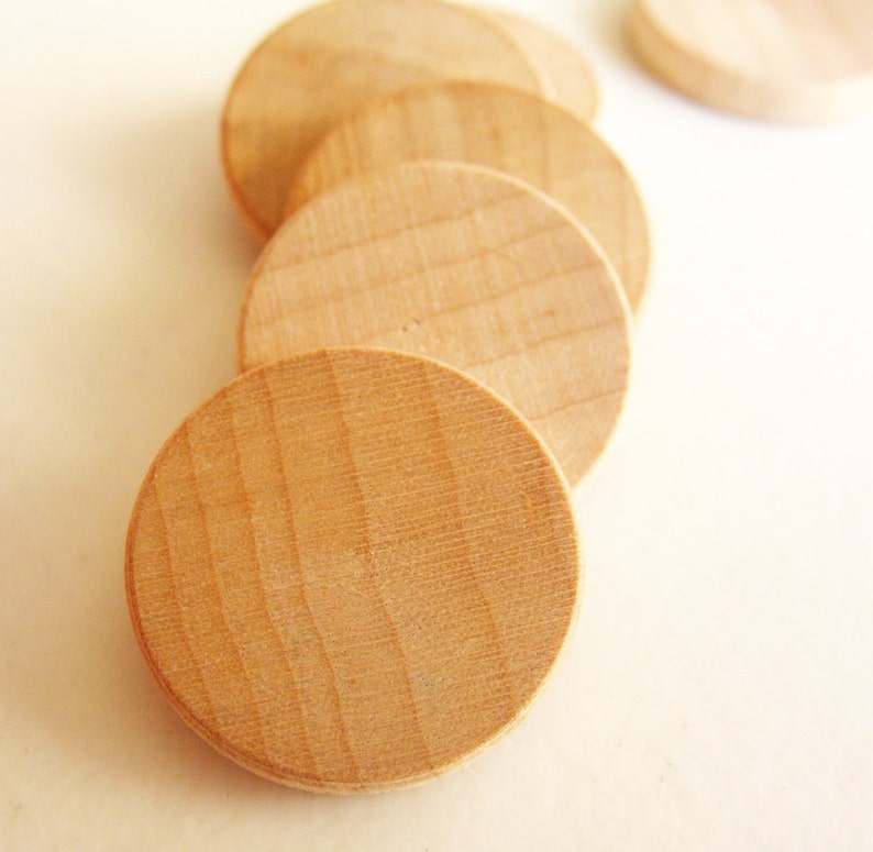 50 Unfinished Wooden Circles 34 Small Wooden Circles Wooden Circles Supplies Natural Wood Circles Wood Circles Beads