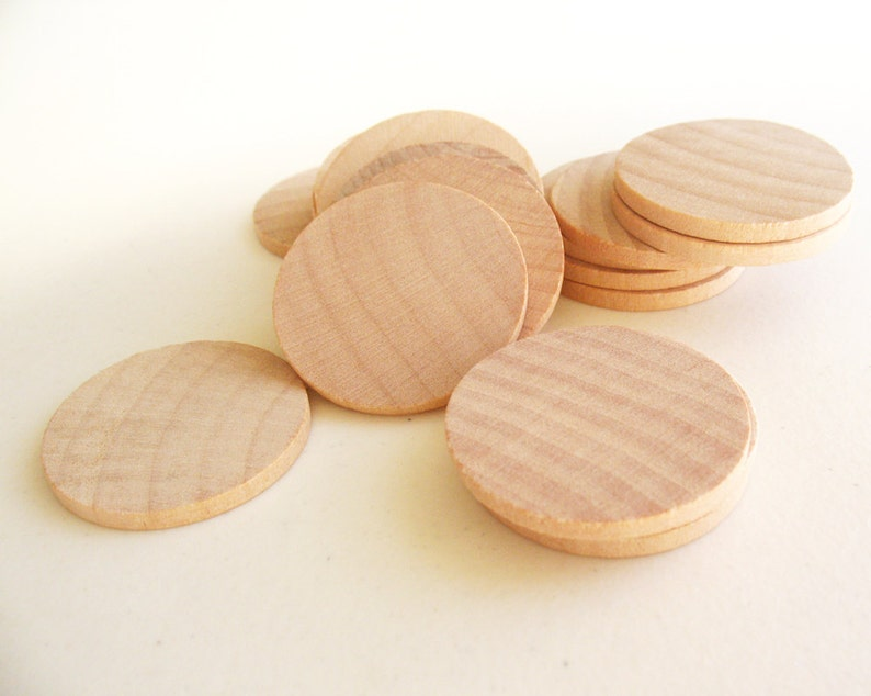 100 Unfinished Wooden Circles 150 Small Wooden Circles Wooden Circles Supplies Natural Wood Circles Wood Circles Beads