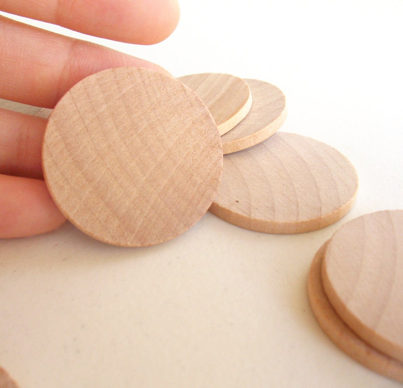 75 Unfinished Wooden Circles 150 Small Wooden Circles Wooden Circles Supplies Natural Wood Circles Wood Circles Beads