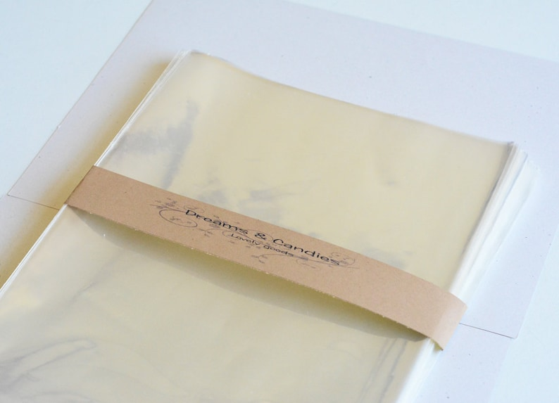 150 Clear Cello bags size 8 12 x 11 Food Safe Bags Food Safe Cello Bags Clear Cellophane Bags Transparent Cello Bags