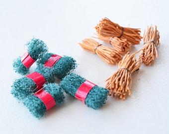 10 Miniature Scrubs - Scouring Pads - Scouring Brush -Bridal Shower Supplies -Bridal Shower Supplies -Mini Kitchen supplies