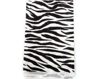 300pcs - 5x7 Zebra Animal Print Paper Merchandise Bags