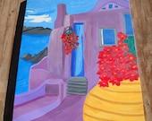 ORIGINAL Greece Painting ...