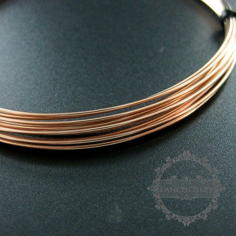 ON SALE 50cm 20gauge 0.81mm half hard rose gold filled high quality color not tarnished beading jewelry wire supplies wiring findings 150500