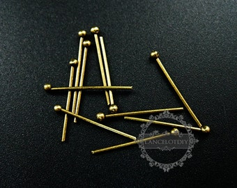100pcs 20mm vintage style bronze brass 0.8mm thick strong ball head pin DIY beading supplies 1511010