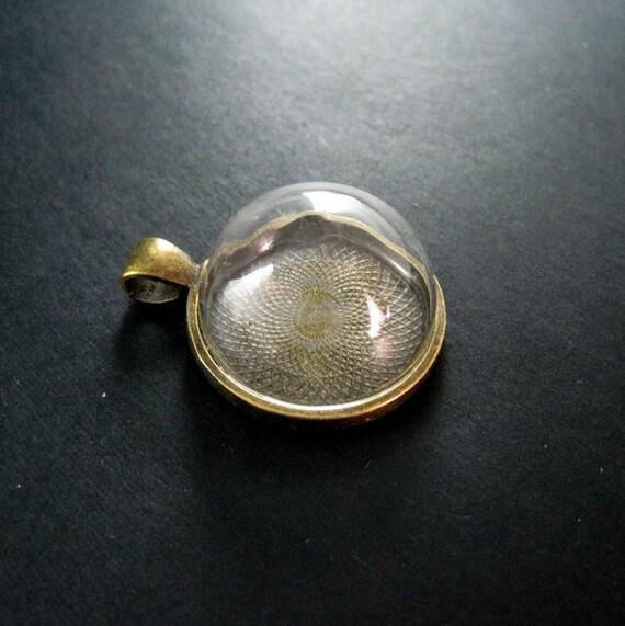 Transparent glass 10pcs 10-25mm Charm Pendants Retro cabochon base settings