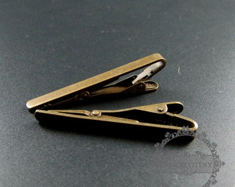 5pcs 5x55mm antiqued bronze plated brass tie clip DIY tie bar jewelry accessory findings supplies 1540023