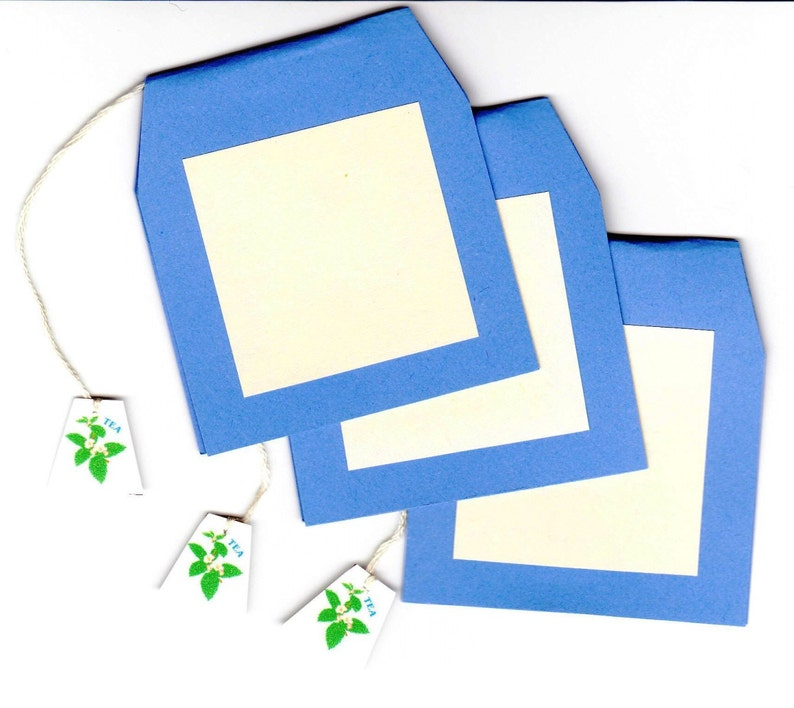 Pkg of 8 TEA BAG Handcrafted Place Cards pkg of 8  an image 0