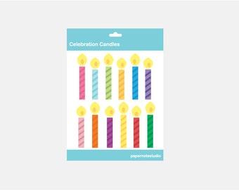 Celebration Candles - Digital Clip Art Set (INSTANT DOWNLOAD)