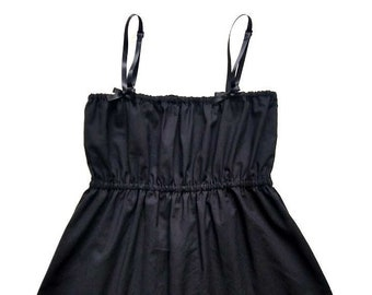 Black Camisole with Lace / Camisole Tops / Pajama Top / Womens Camisole