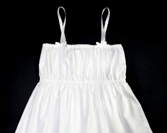 White Cotton Camisole with Lace / Camisole Tops / Pajama Top / Womens Camisole
