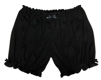 Lolita Bloomers for Women, Soft Comfy Black Shorts
