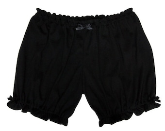 Womens Bloomers Shorts Black / Soft Black Bloomers / Pajama Shorts
