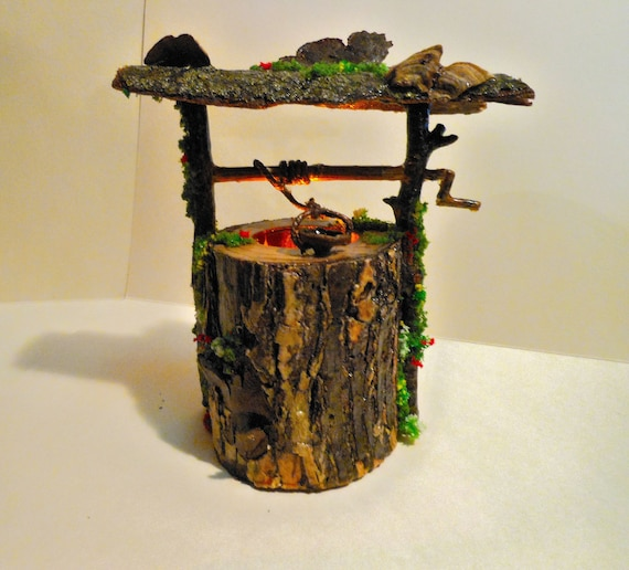 Miniature Dollhouse FAIRY GARDEN Furniture ~ Large Wood Twig Swing Set with Moss