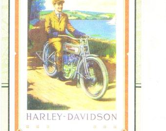 "Harley Davidson Ad Photo Print- 7 1/4"" X 10 1/2"""