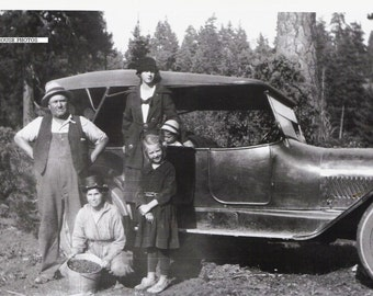 1924 Picture of the Wells Clan Showing off their Berries - Fine Art Photography