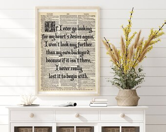 Frank Baum\u2019s quote \u2018That kind of courage\u2019 Unframed Print Inspirational Print Wall Art L Wizard of Oz