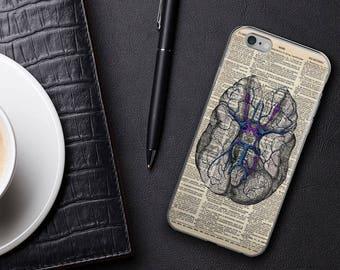 Gehirn Vintage Anatomie Dictionary Art iPhone 7 8 X Case, iPhone 7 Plus Gehäuse, iPhone 6 s, Psychologie Geschenke für Absolventen iPhone 6 plus Cover
