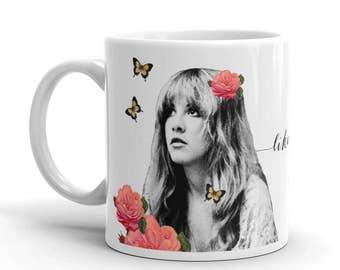 Stevie Nicks Mug, Rhiannon Fleetwood Mac Coffee Mug, Ceramic Mug, Inspirational Quote Mug, Gifts for Women Wedding Mug, Gypsy Boho Decor