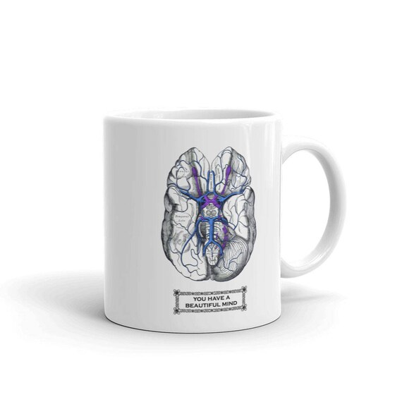 BRAIN Anatomy Mug Psychologist Gifts Psychology Coffee Mug | Etsy