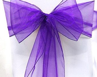 purple chair sashes etsy
