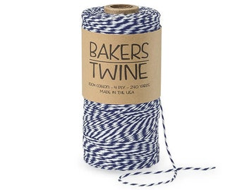 gift order packing wrapping Aqua green /& white 12 ply bakers twine 5-10 yards