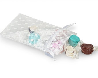 Wedding Favors  Organza Bags  Set of 10 White  Sheer Bridal Baby Shower Party Favor Easy