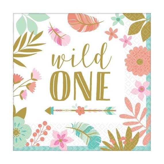 Papier Servietten 16 Wild Eine Partei Servietten Wild Ein Etsy