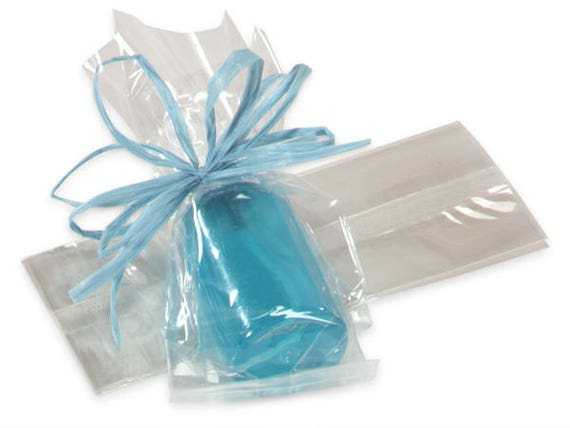 """50 CLEAR 14/"""" x 5/"""" x 2.5/"""" CELLOPHANE BAGS WITH GUSSET *FOOD SAFE*"""