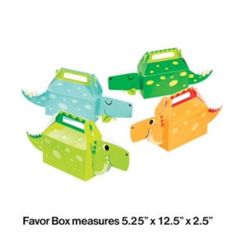 Boy Birthday Party Boy Dinosaur Favor Boxes 4 boxes