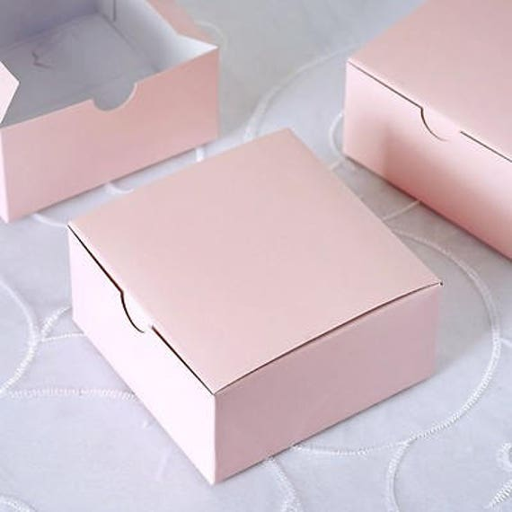 "Wedding Party Cake Candy Favor Treat Box 4x4x2.5/"""