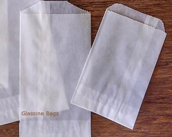 """200 Glassine Bags , Bag Only , 4.5 x 6.75"""" Medium , 1/2 Lb Favor Treat Bags , 8 oz Food Safe , Favor Packaging  Flat Treat Glassine Bag -"""