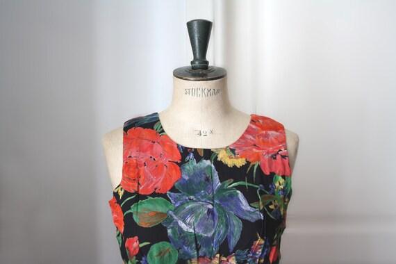 Vintage Floral dress // 1980s  dress. Vintage summ