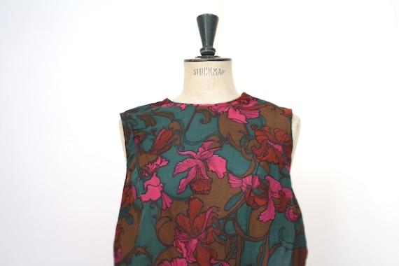 TIGER LILY. Vintage Floral dress // 1960s swing dr