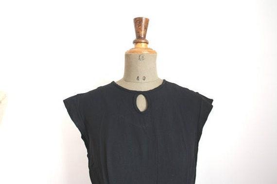 1950s LITTLE BLACK DRESS // Black 50s Dress //
