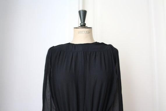 Vintage Chiffon dress // Pleated dress // DEADSTOC
