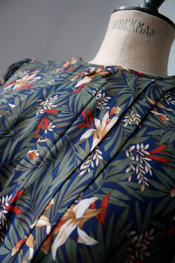 Vintage Floral dress // Pleated dress // DEADSTOCK - image 4