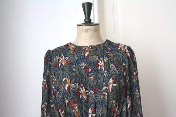 Vintage Floral dress // Pleated dress // DEADSTOCK - image 1