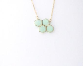 Mint cloud necklace. Minimalistic necklace.  Fashion necklace  Mint necklace
