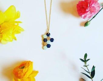 Geometric necklace Minimalistic necklace  Fashion necklace  Mint necklace