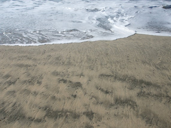 Sand and Surf--matted and framed photo in Half Moon Bay