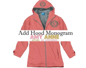Add Hood Mongram to your Jacket