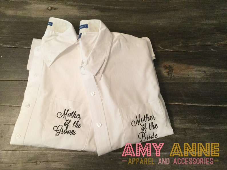 Oversize Mother Of The Bride And Groom Button Down Shirt Set Etsy