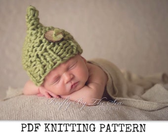 easy baby hat knitting pattern beginner fast knit in super chunky wool